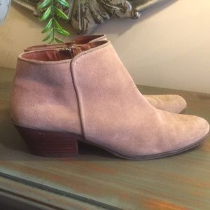 Apri by Italian Shoemakers suede camel color boots